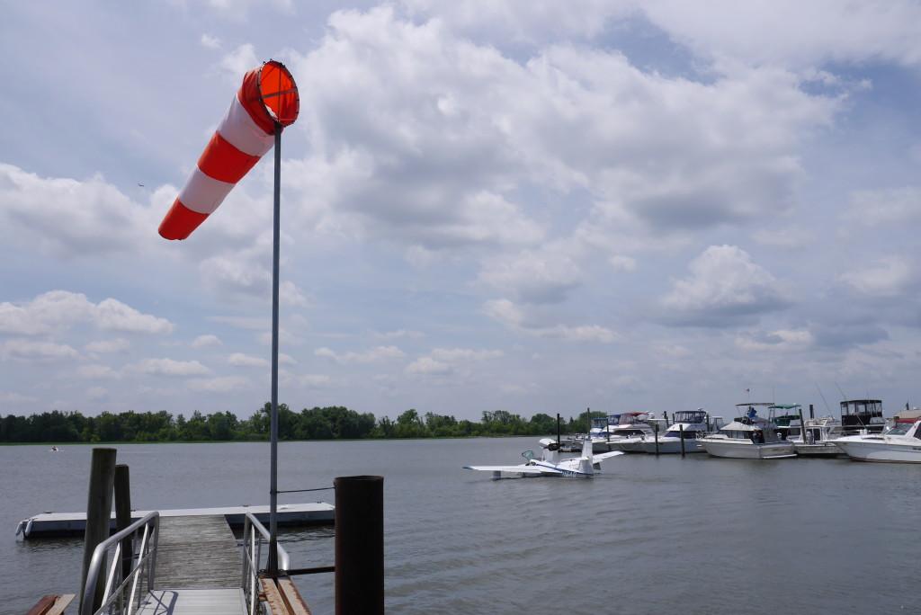 Departing into Delaware River